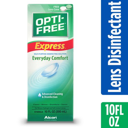 OPTI-FREE Express Multipurpose Contact Lens Disinfecting Solution, 10 FL OZ](Scary Contact Lenses Cheap)