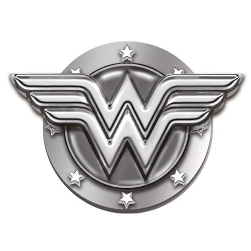 "Wonder Woman Logo 1"" Pewter Lapel Pin"