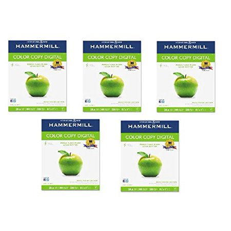 Hammermill Color Copy Digital, 32 lb, 8-1/2 x 11 Inch, 100 Bright, 102467 (2500Sheets/5 Reams) Pack of