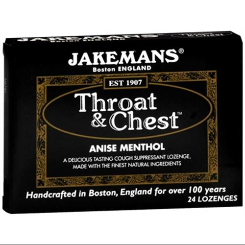 Jakemans Throat & Chest Lozenges Anise Menthol 24 Each (Pack of 6)