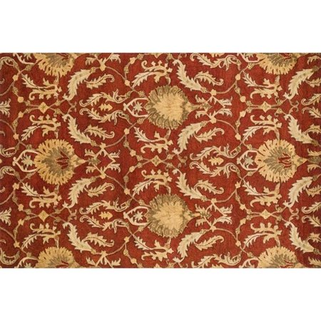 "Loloi Fulton 3'6"" x 5'6"" Hand Tufted Wool Rug in Persimmon"