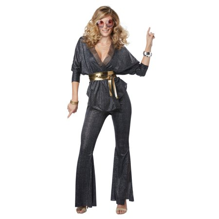 Disco Dazzler Women's Halloween Costume - Dark Disco Halloween