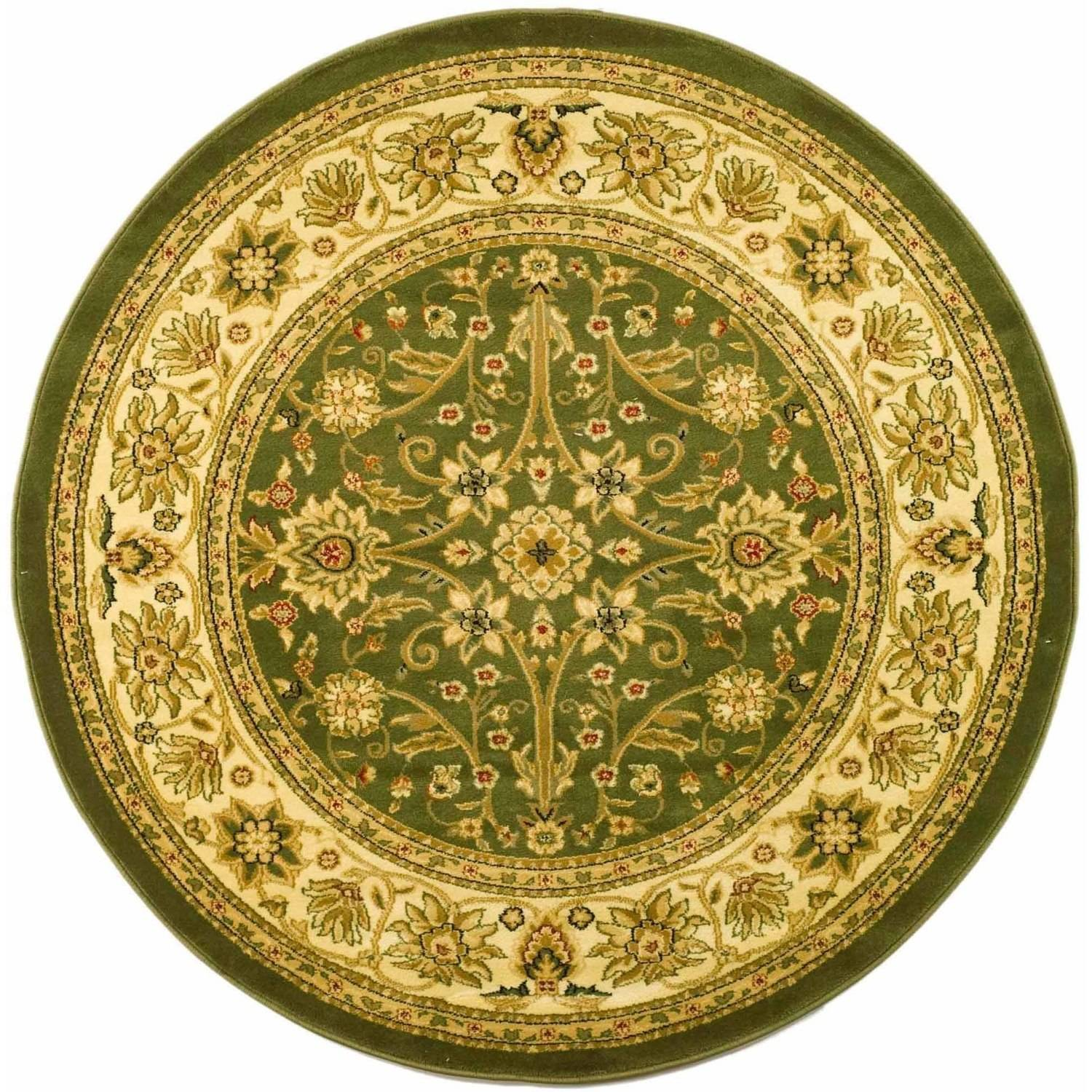 Safavieh Lyndhurst Traditional Round Area Rug, Sage and Ivory, 8' Round