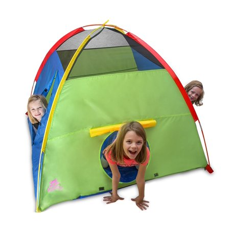 Kiddey Kids Play Tent & Playhouse - Indoor/Outdoor Playhouse for Boys and Girls - Promotes Early Learning, Social Bonding, Imagination Building and Roleplay - Easy Setup ()
