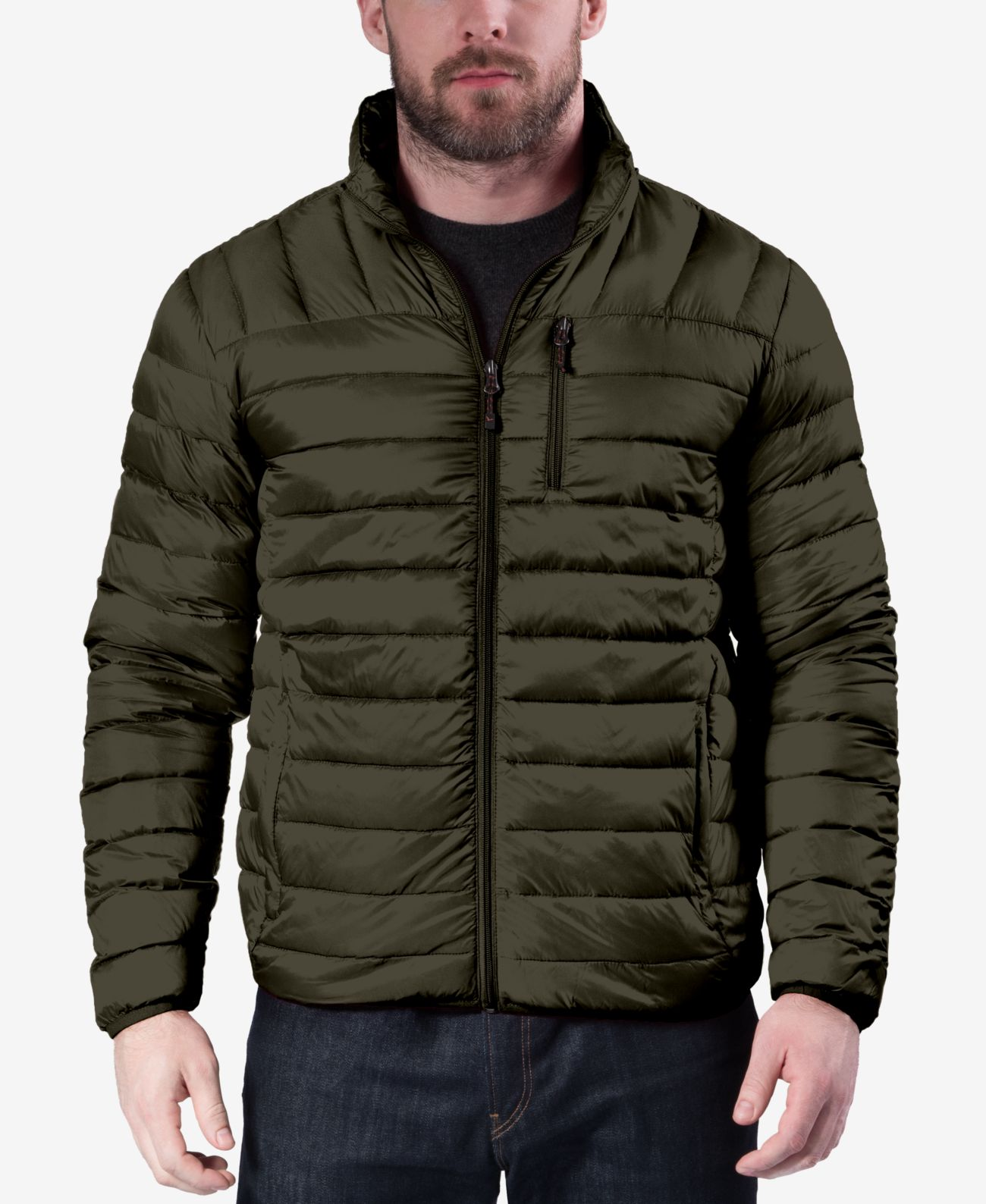 L, Dark Shadow Tommy Hilfiger Mens Salvador Puffer Jacket