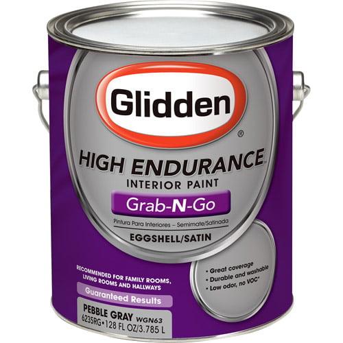 Glidden High Endurance Grab-N-Go Interior Eggshell/Satin, Pebble Gray, 1 Gallon