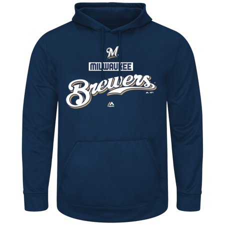 "Milwaukee Brewers Majestic MLB ""Mighty Moments"" Hooded Mens Sweatshirt by"