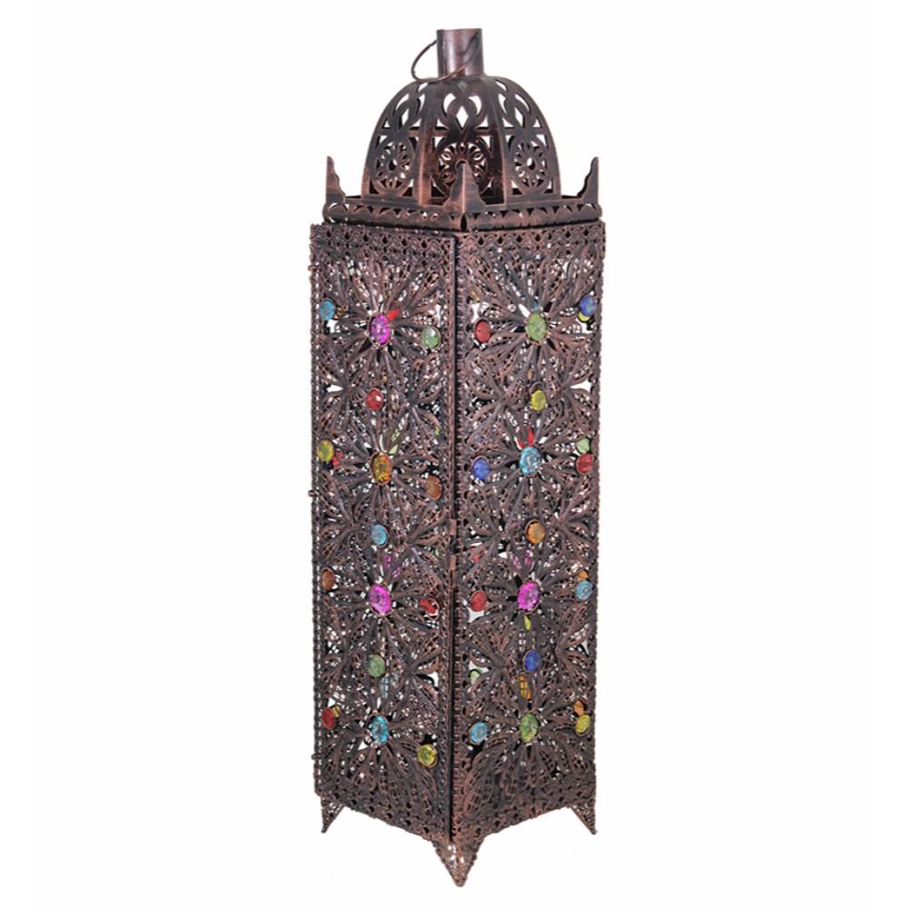 Crown Royale Antique Metal Lantern ,Copper
