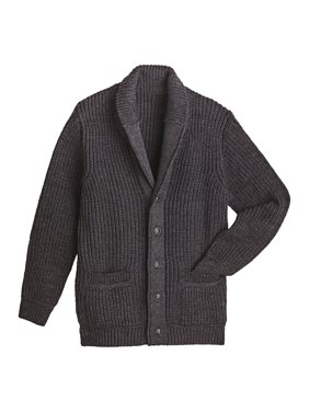 0d9b9e9c46671a Product Image West End Knitwear Men's Merino Wool Sweater - Ribbed Knit  Shawl Collar Cardigan