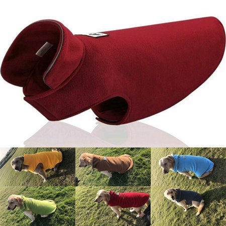Windproof Winter Warm Fleece Dog Coat Jacket Soft Pet Dog Vest Apparel Overcoat for Small Medium Large (Best Small Breed Dogs For India)
