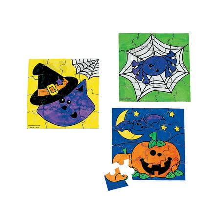 Fun Express - Cyo Halloween Friends Mini Puzzles for Halloween - Craft Kits - CYO - Paper - Misc CYO - Paper - Halloween - 50 Pieces