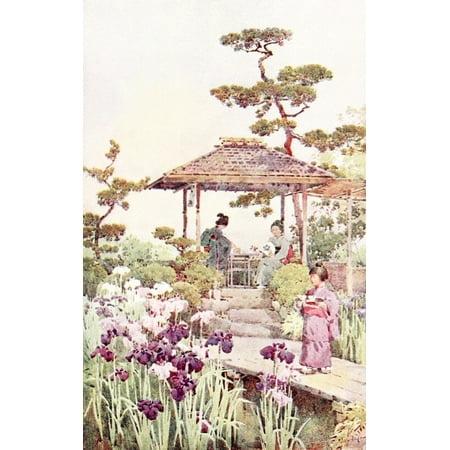 - An iris garden Flowers & Gardens of Japan 1908 Poster Print by  Ella Du Cane