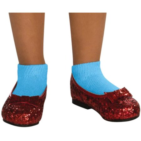 Morris Costumes RU59910SM Dorothy Sequin Shoes Child Costume, Small](Dorothy Shoes)