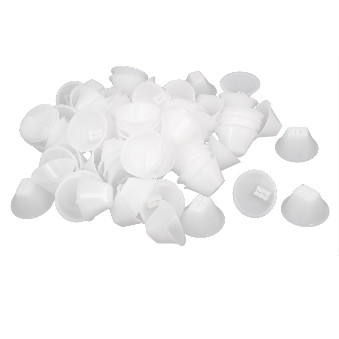 Wall Floor Tile Leveling System Spacers Caps White 48mmx25mm 100pcs