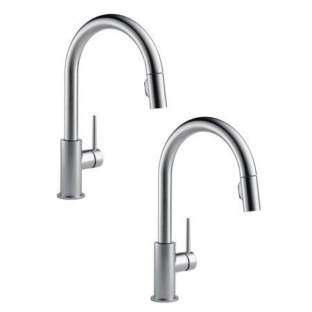 Delta Single Handle Trinsic Kitchen Sink Faucet Arctic Stainless 2 Pack