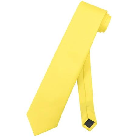 Vesuvio Napoli NeckTie Solid EXTRA LONG GOLDEN YELLOW Color Men's XL Neck Tie](The G String Tie)