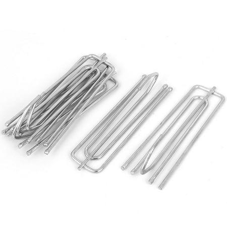 70mm Long 4 Prong Metal Pinch Pleat Curtain Hooks Silver Blue 5pcs