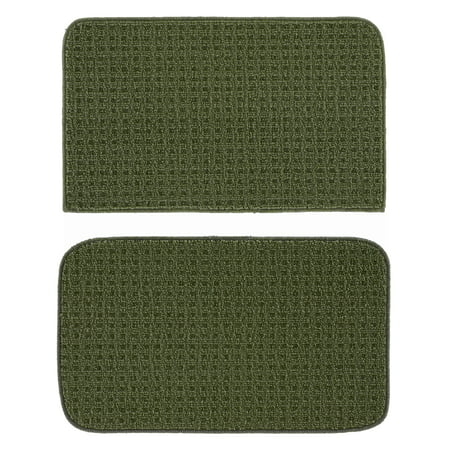 Garland Rug Herald Square 2pc Kitchen Rug Set 18 in. x28 in. Slice & 18 in. x28 in. Mat Sage