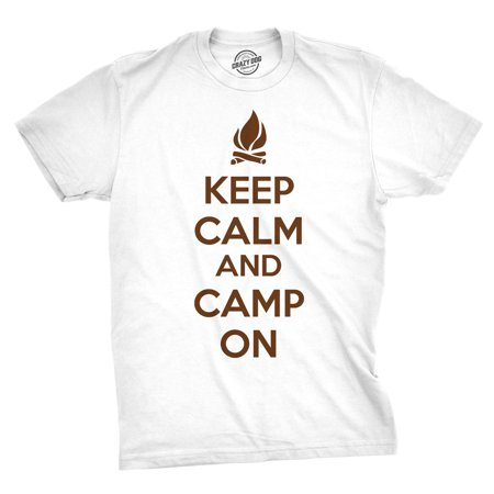 3d02b56631825 Keep Calm and Camp On T Shirt Funny Camping Shirt I Love to Camp Tee