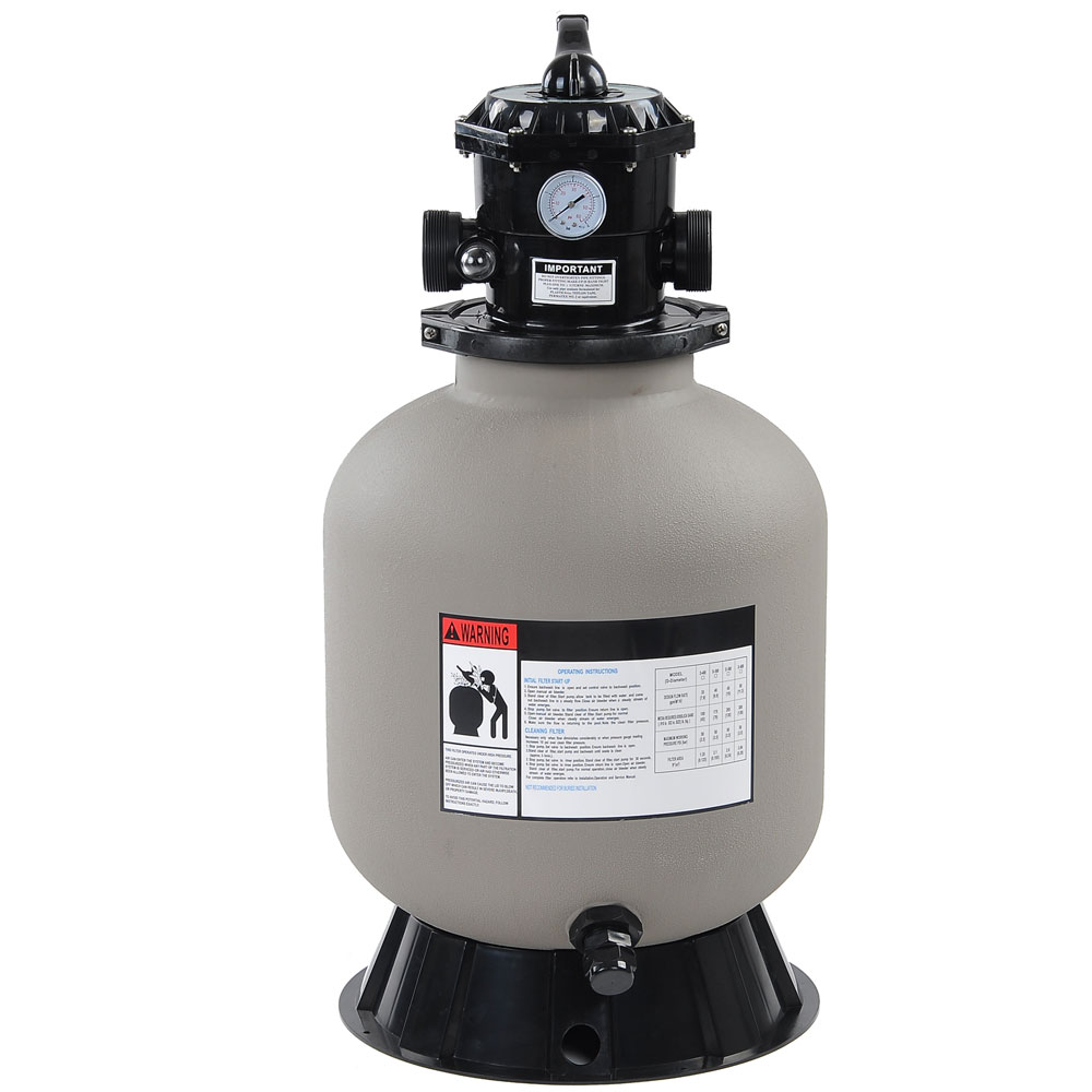 """16"""" Frame Swimming Pool Sand Filter w/ Valve Fit 1/2HP 3/4HP Water Pump For Above Inground Pool"""