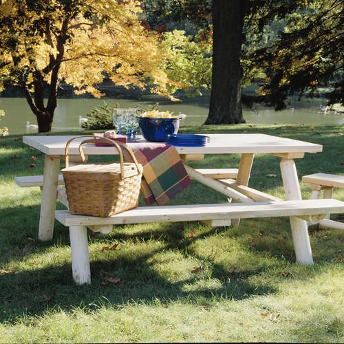 Rustic Natural Cedar Furniture Cedar Log Picnic Table