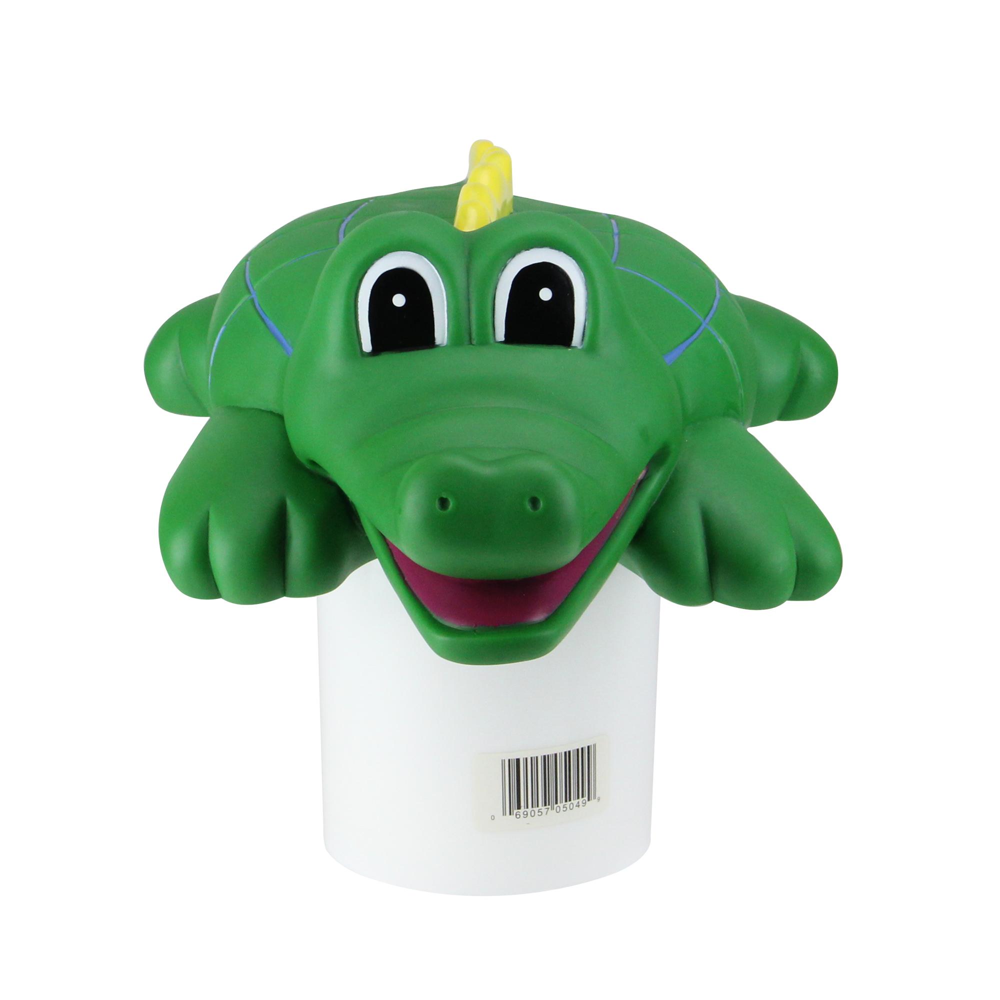 "16"" Green Crocodile Floating Swimming Pool Chlorine Dispenser"
