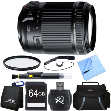 Tamron 18-200mm Di II VC All-In-One Zoom Lens for Canon Mount 64GB Card Bundle