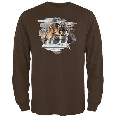 Nordic Wolves of Winter Mens Long Sleeve T Shirt