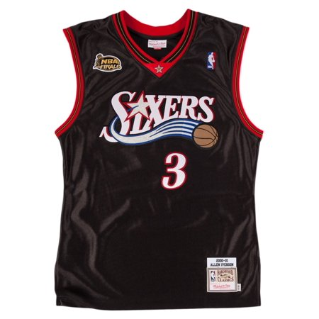 Allen Iverson Philadelphia 76ers Mitchell & Ness Authentic 2000 Black NBA Jersey by