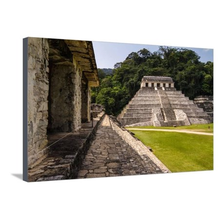 Mayan Ruins in Palenque, Chiapas, Mexico. it is One of the Best Preserved Sites, Which Contains Int Stretched Canvas Print Wall Art By