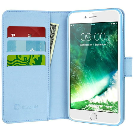 Iphone 7 Case  I Blason Wallet Case  Credit Card Id Holders  Apple Iphone 7  Dal Blue