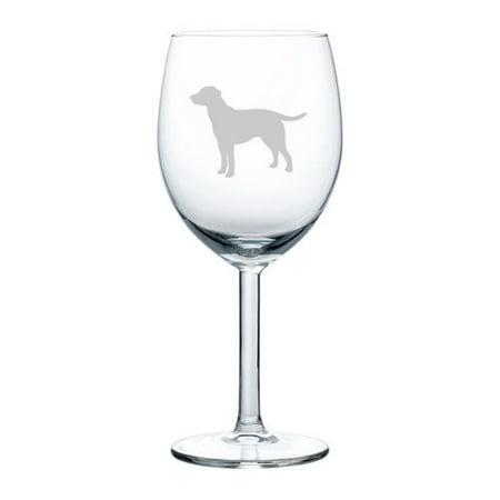 Wine Glass Goblet Lab Labrador Retriever (10 oz)