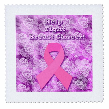 3dRose Help Fight Breast Cancer - Quilt Square, 10 by 10-inch