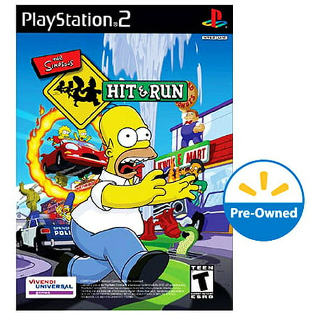 The Simpsons: Hit and Run (PS2) - Pre-Owned - Walmart com