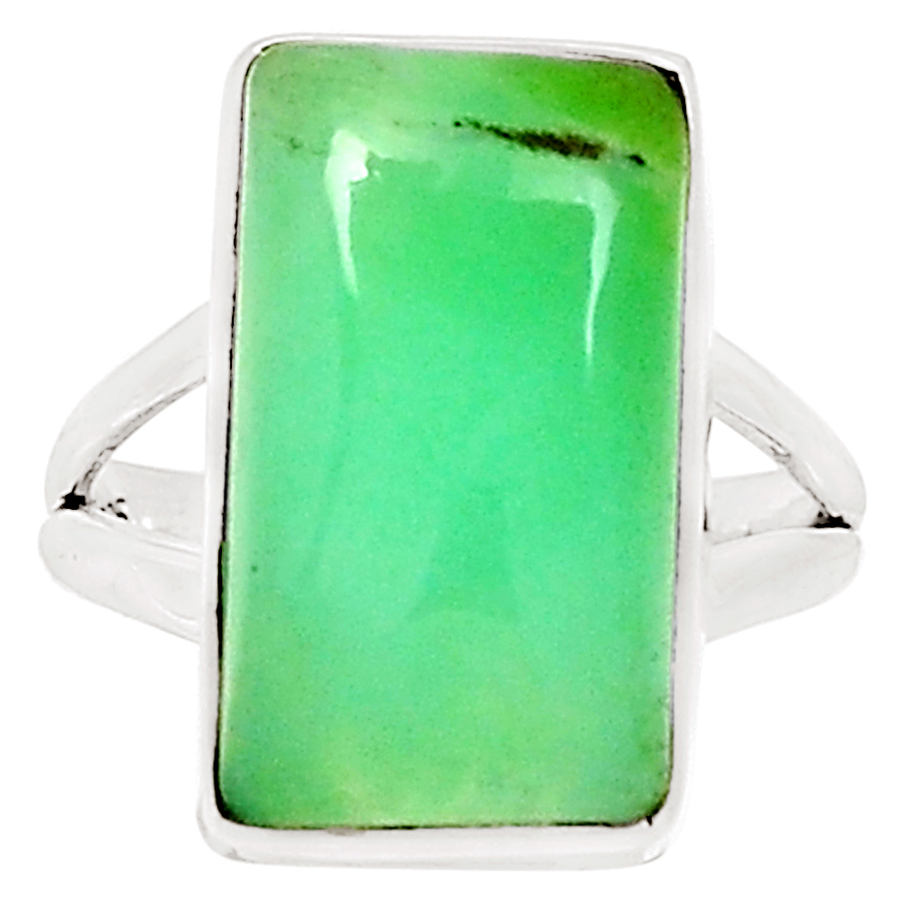 XTREMEGEMS Chrysoprase 925 Sterling Silver Ring Jewelry s.6 10307R by