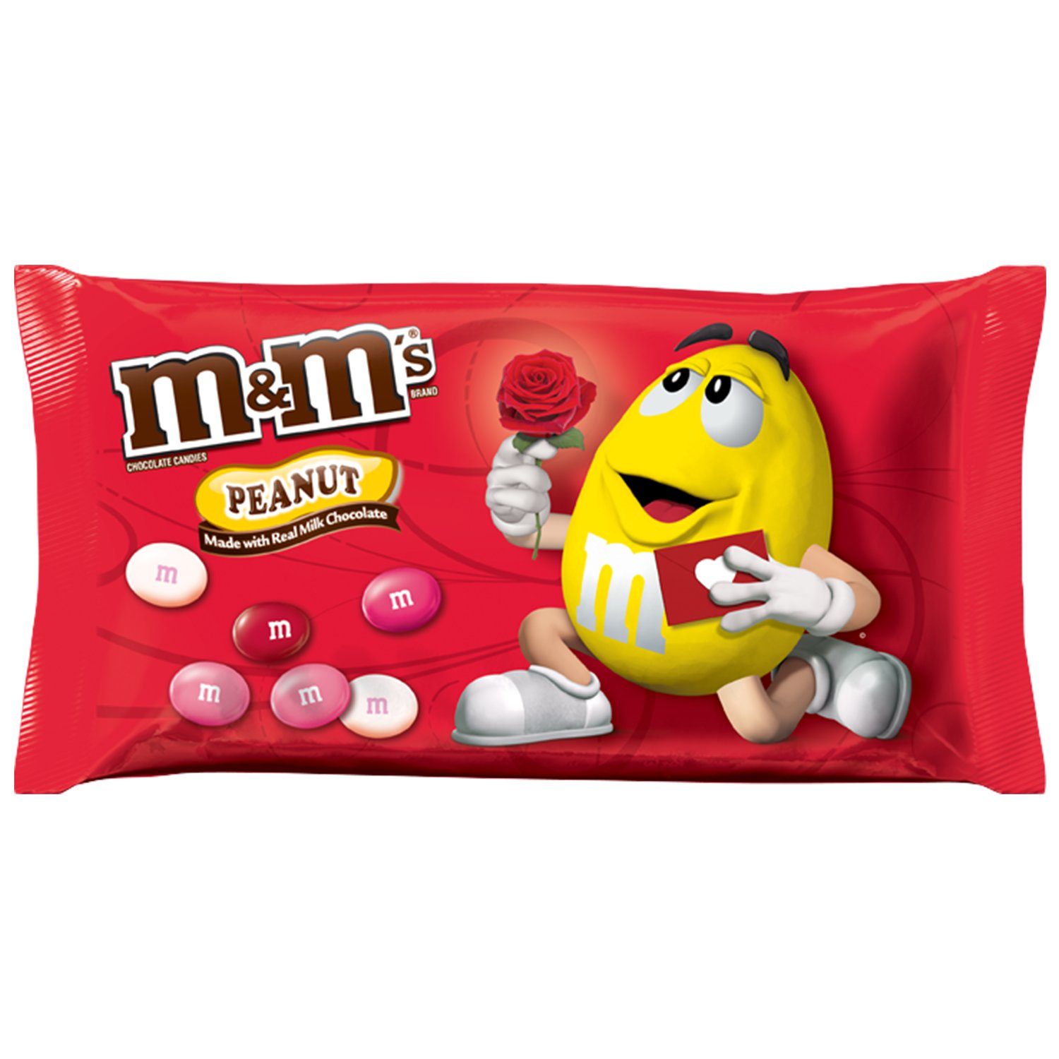 M&M'S Valentine's Peanut Chocolate Candy Bag, 11.4 oz