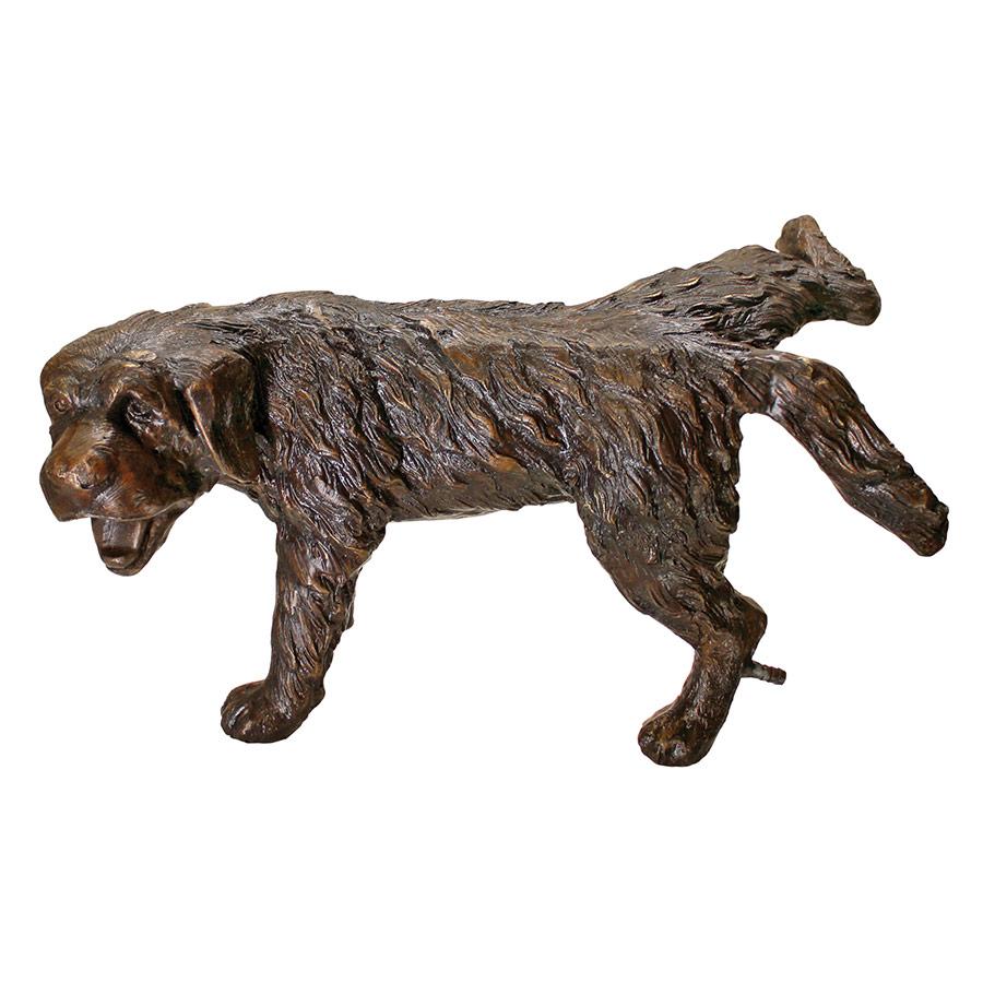 Naughty Puppy, Peeing Dog Cast Bronze Garden Statue