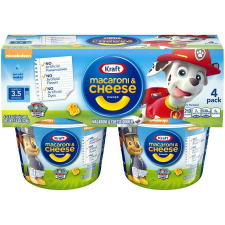 (2 Pack) Kraft Paw Patrol Shapes Macaroni & Cheese Dinner 4-1.9 oz. (Best Frozen Cheese Ravioli)