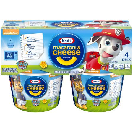 Kraft Dinner Halloween ((2 Pack) Kraft Paw Patrol Shapes Macaroni & Cheese Dinner 4-1.9 oz.)