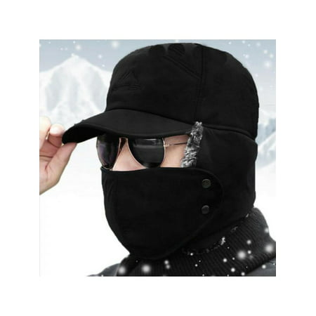 Men Winter Aviator Hat Trooper Ear Flap Snow Ski Elmer Fudd Mask Hood Cap ()