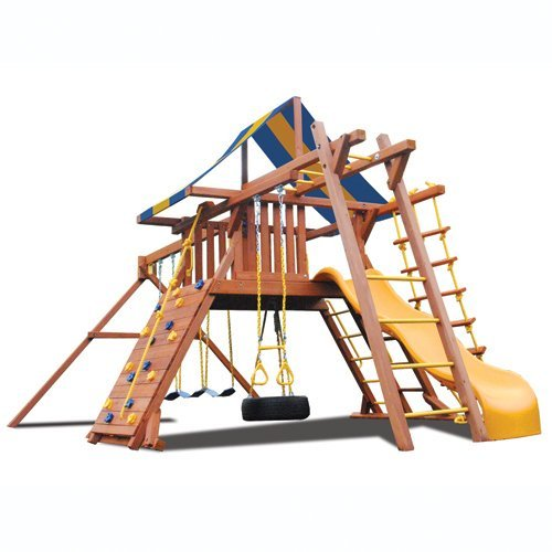 Superior Play Systems Original Playcenter with Monkey Bars Swing Set
