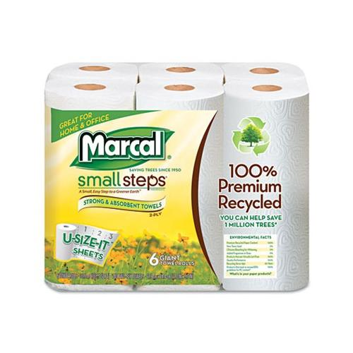 Sma1l Steps 100% Recycled Roll Towels MRC6181PK