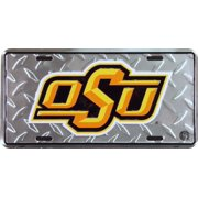Oklahoma State Diamond Embossed License Plate