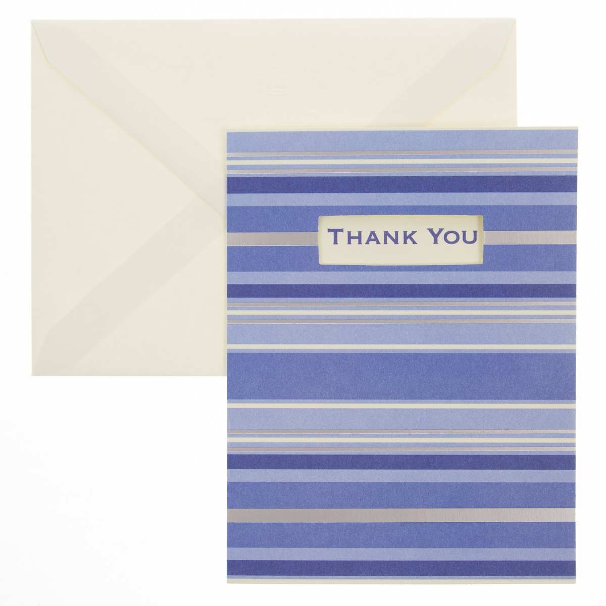 "50 Pack Hallmark 4"" x 5.5"" Blank Inside Thank You Cards With Envelopes Bulk Set Thank You"