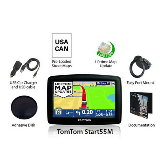 Refurbished Refurbished TomTom Start 55M 5-inch Automotive GPS w/ Lifetime  Map Updates & Spoken Street Names