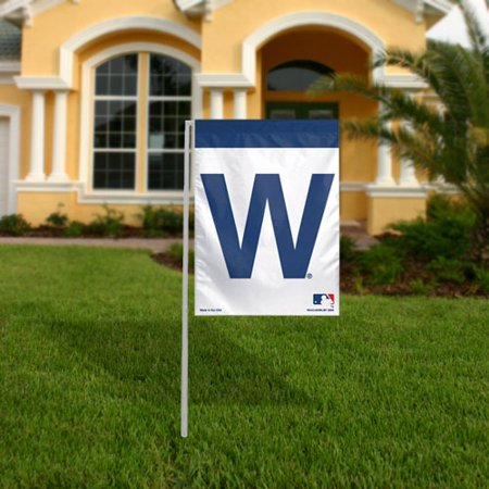 WinCraft Chicago Cubs 11'' x 15'' Winning Logo Garden Flag - No Size Chicago Cubs Vertical Flag