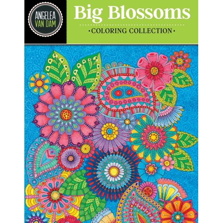 Hello Angel Big Beautiful Blossoms Coloring Collection ()