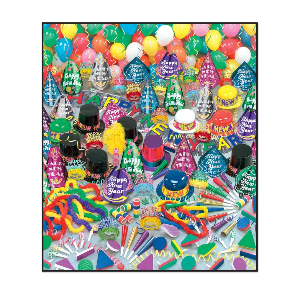 Beistle Super Bonanza New Year's Eve Party Kit for 100 Pe...