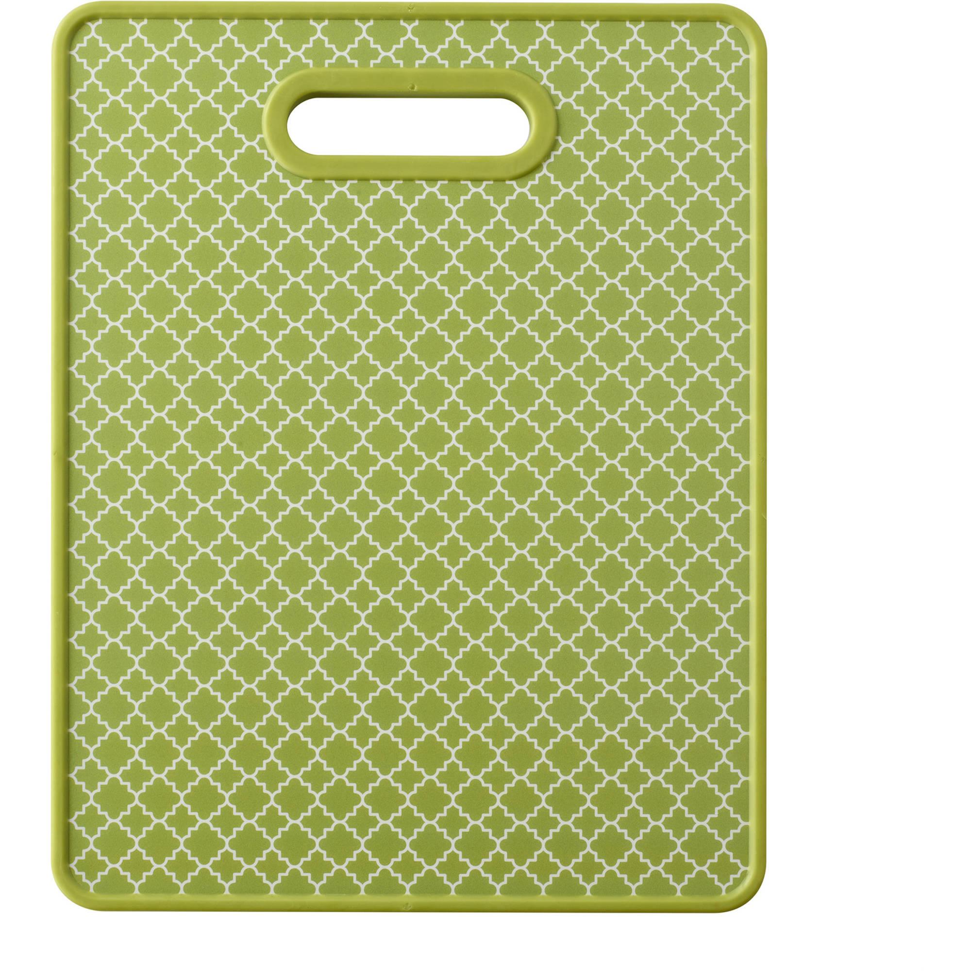 "Farberware 11"" x 14"" Nonslip Cutting Board, Trellis Green"