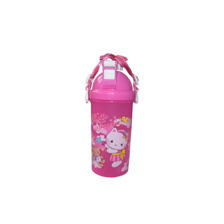 Kitty Sweet Travel Bottle Pop Open Top with Drinking Straw Hello Kitty Character Design KT-CUP-1 - 1 Bottle Woven Straw